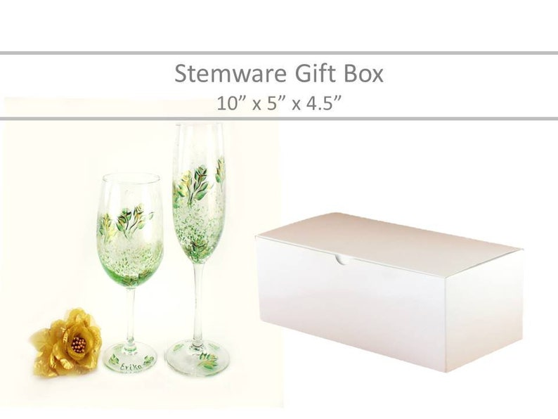 Wine Glass Gift Box Champagne Glass Box Stemware Favor Box Wine Glass Favor Box For Wine Glasses Groomsmen S Gift Box