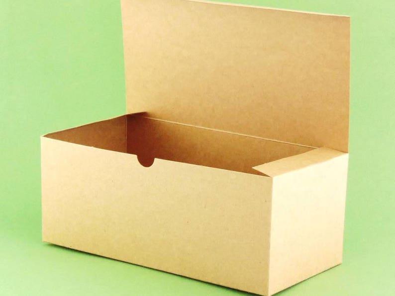 image 0 ... & 12 Kraft Wine Glass Gift Boxes Bulk Lot of 10 x | Etsy