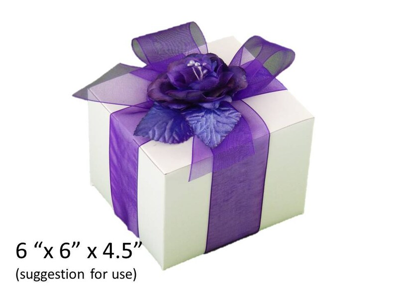 Choice of Ribbon Color 10 x 5 x 4 12 Boxes Groomsmen/'s Gift Box 12 Gift Box Kits for Wedding Party Glasses Champagne Wine Glasses