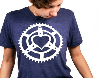 Chainring Heart Fitted T-Shirt