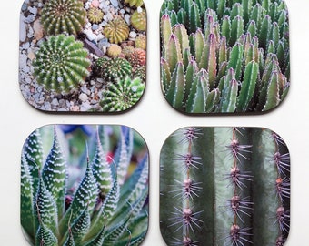 Cactus Coasters - Set of 4 - Photography - Unique Gift - Housewarming Gift - Southwest Art