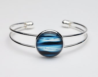 Tranquility - Bangle Bracelet - Photography - Handmade - Unique Gift - Stackable Cuff -  Wearable Art!