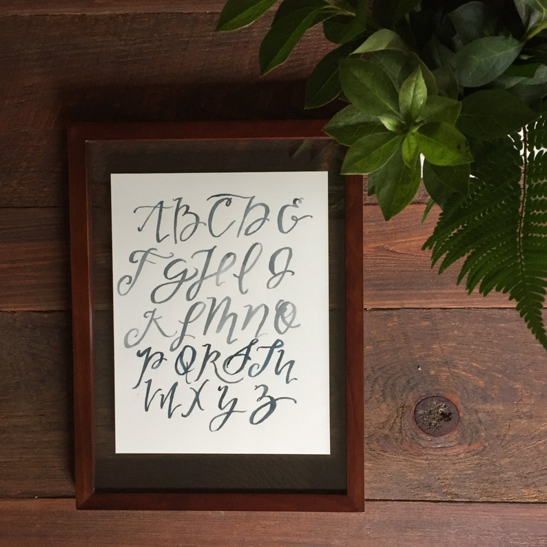 Brush Lettering Alphabet Watercolor Painting