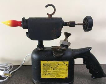 Vintage Bell Pistol Grip Blow Torch Lamp