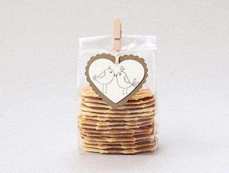 15 pcs Plastic Cookies Bags Cellophane Bags for Cake Candy Cookie
