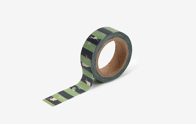 Hide and seek printed Korean washi tape for scrapbooking, decorations (15mm x 10m)