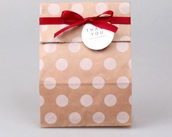 20 Polka dot brown bags
