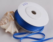 100 Pure Silk Embroidery Ribbon Tape Double Face Thin Taffeta 2mm-32mm (1 4 39 39 -1-1 4 inch), 242 Blue