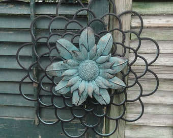 Sunflower, Metal Wall Decor, Flower Of Life, Distressed Art, DIY  Decorating, Home And Garden, Gift Ideas, Flower Power, Cottagexpressions