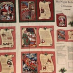 Childrens Christmas Books, Book Panel, DIY, The Night Before Christmas Fabric Book, Childrens Books,