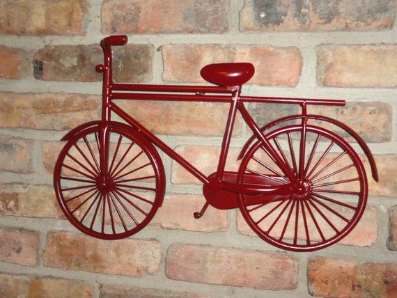 V lo cycliste d coration murale courses de v lo etsy - Velo decoration ...