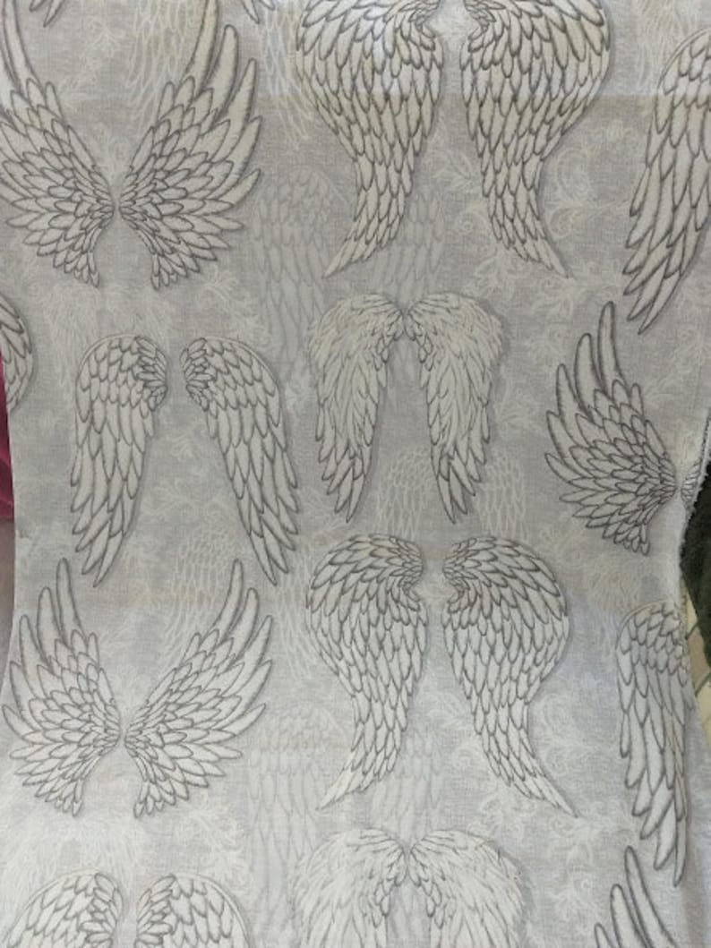Angel Wings Fabric Cotton Duck DIY Sewing Cotton Material image 0