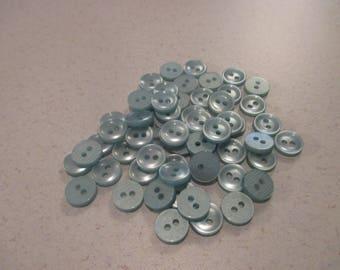 50 Pcs of Seafoam Green Buttons