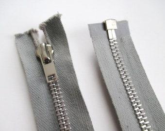 """10 pcs No.3 Zip Fermeture à glissière métal curseur fermé fin poids lourd 4/"""" 6/"""" 8/"""" Noir"""
