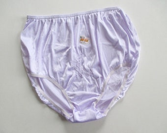 Vintage 100% Nylon Lavender Purple Panties Size XL New With Label Never  Worn Full Seat High Waist So-En Josefina Manufacturing 7f40a389e