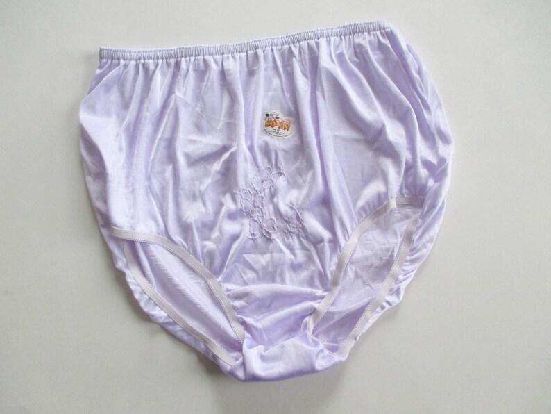 d6fdfb91d56 Vintage 100% Nylon Lavender Purple Panties Size XL New With