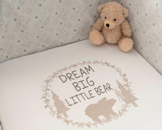 dbb940c9f0 Dream Big Little Bear Mini crib Co sleeper sheets Next to