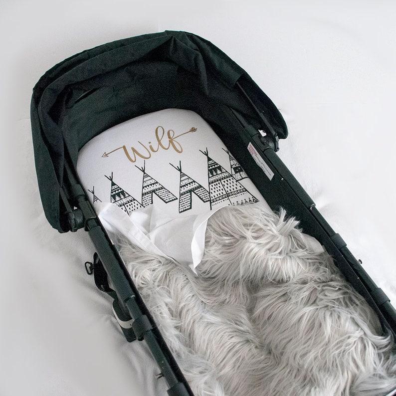 1ca127d6b8aa9 Personnalisé baby tipi feuille de couffin montagne drap