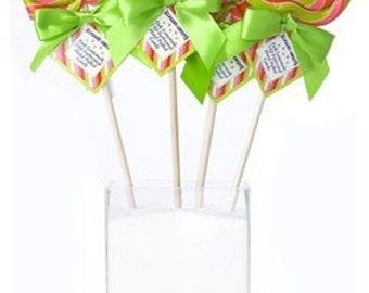 12- Swirl Lollipops 2oz. Pink Lemonade Flavor