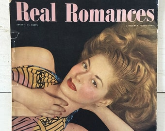 Real Romances Magazine August 1948 - Pulp Fiction, Beauty Advertisements, Vintage Ads, Burlesque, Pin Up Girls