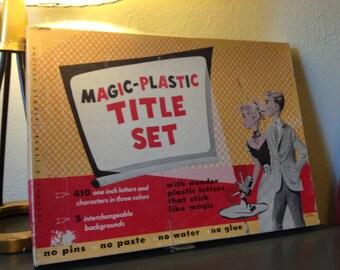 SALE! Vintage Magic-Plastic Title Set