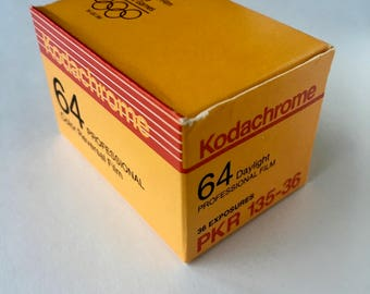 SALE - Unopened Box - Kodachrome 64 PKR-135 36 exposure, 35mm Film - EXPIRED - Color Film, Transparency Film