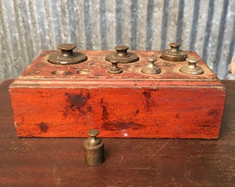 Antique Apothecary Scale Weight Set - Scale Weights