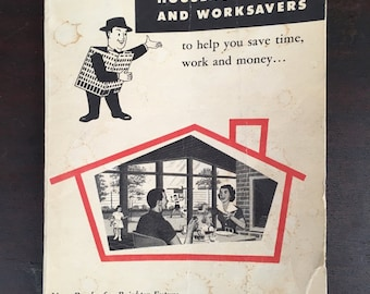 Vintage 1003 Household Hints and Worksavers - 1947 Magazine, Booklet