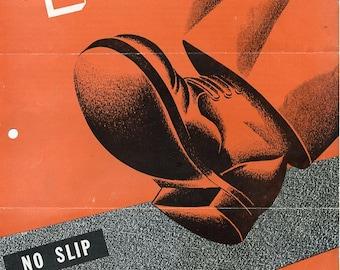 Rare Vintage 1950's Truscon Saf-T-Dek Product Brochure - Work Poster Design - Industrial Design - Advertising Paper Ephemera