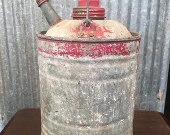 Small Vintage Gas Can with Lids - Half Gallon Gas Can
