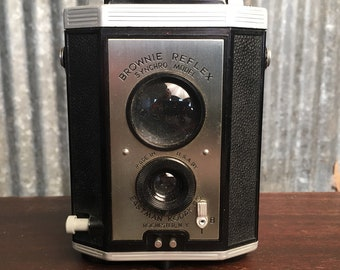 Vintage Kodak Brownie Reflex Syncho 127 Film Camera