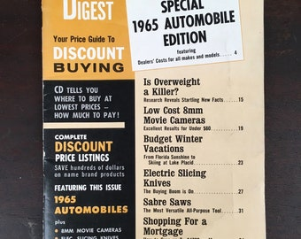 1964 Consumers Digest Magazine - 1965 Automobile Edition
