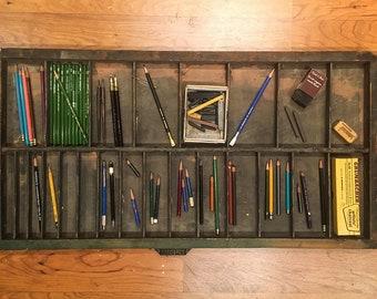 Vintage Hamilton MFG Co. Letterpress Typeset Drawer - Great for artist supplies, Wall Decor, Industrial Decor