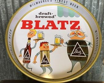 Vintage 1959 Blatz Beer Tray with Cartoon Figures - Classic Beer Tray