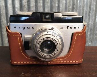 Vintage Argus A - Four 35mm Viewfinder Camera - Classic Film Camera, Plastic Camera