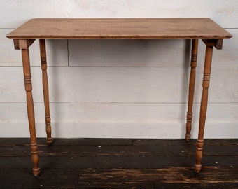 Antique Wooden Folding Table - Sewing Table - Collapsable End Table