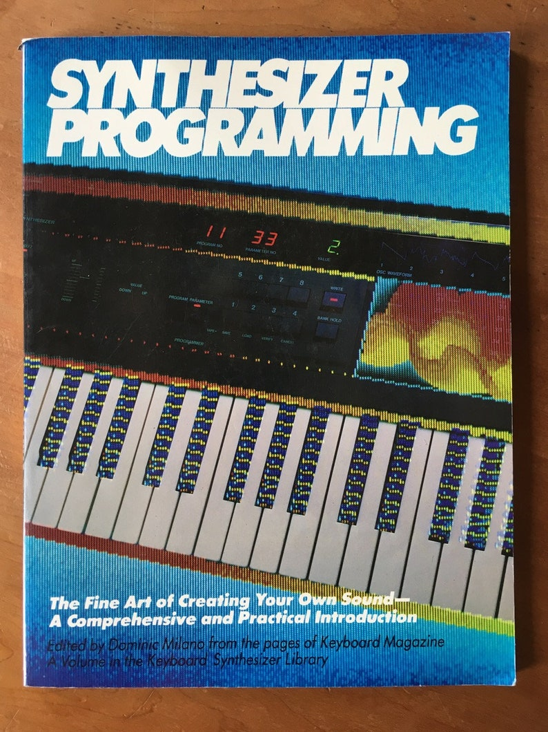 Synthesizer Programming Book  1987 Keyboard Magazine  Out of image 0