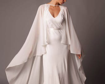 Seville Cape: Simple Ethereal Full Length Georgette Cape