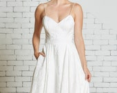 """Graceful Ballgown with Sweetheart Bodice and Full Skirt, Pockets, Floral Jacquard, """"Whitney"""" by Rebecca Schoneveld"""