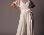 Sicily Lace Top: Romantic Flutter Sleeve Lace Bridal Top
