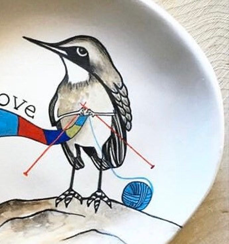 Gift for Women Mothers Day Gift Gift for Daughter Jewelry Dish Knitting Gift Gift for Her Bird Lover Bird Ring Dish Ring Dish