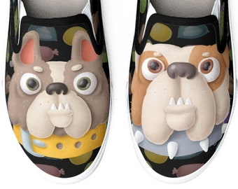 Bucketfeet Slip On Shoes - Women's Size Custom Art Casual Shoes