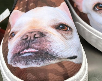 Bucketfeet Slip On Shoes - Men's Size Custom Art Casual Shoes