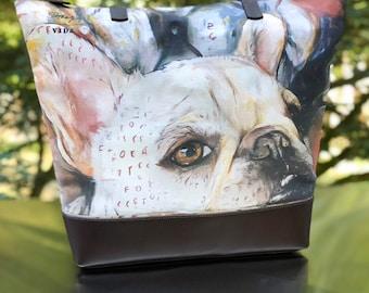 Canvas & Leather Portrait Bag - Mabel Ruckus
