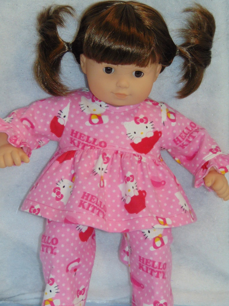 7450632eb HELLO KITTY Flannel Pajamas 15 inch doll/Bitty Baby | Etsy