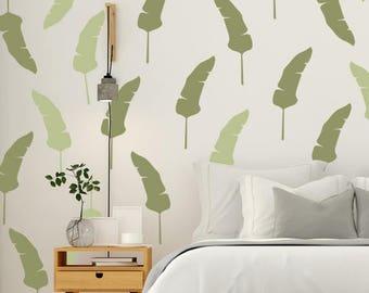 Banana Leaf, Tropical Leaf, Tropical Wall Decals, Tropical Wall Decor, Hawaiian Decor, Plant Wall Decor, Hawaiian Wall Decal, Leaf Decal