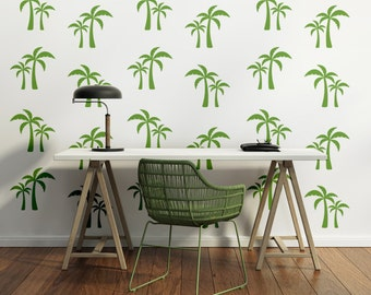 Palm Tree Decal, Beach Decor Coastal, Tree Wall Decal, Retro Wall Decal, Tropical Decor, Beach Wall Art, Modern Wall Art, Hawaiian Decor