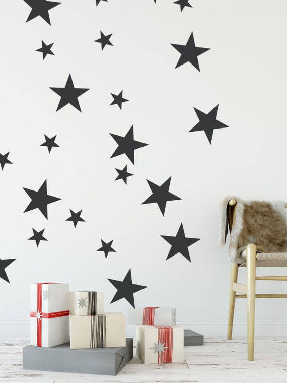 star wall decals star wall stickers star wall decals | etsy