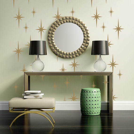 Retro Starburst Wall Decals Atomic Star Wall Decal