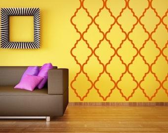Moroccan Wall Decor, Quatrefoil Wall Pattern, Geometric Wall Decal,  Moroccan Wall Art, Modern Interior Decorating, Modern Nursery Decor